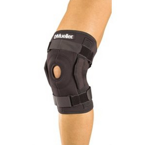 A knee brace, supports the knee, keeps the knee in placed, and prevent further injury to the knees image