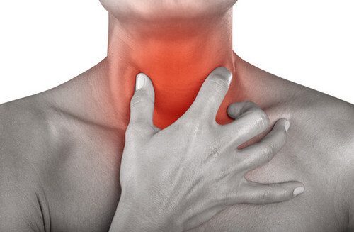 A painful throat is an indicator of a painful swallowing (odynophagia) pictures